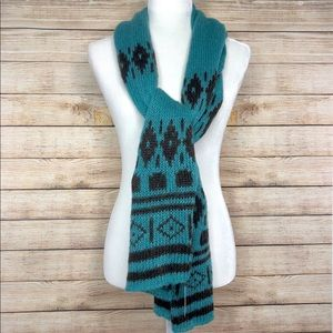 Wooden Ships Turquoise Sweater Mason Wrap Scarf